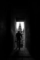 (cherco) Tags: indonesia man solitario solitary silhouette silueta shadow sombra shadows alone arquitectura architecture arco door lonely light luz tower markiii canon 5d blackandwhite blancoynegro escaleras stone piedra temple techo moment monochrome