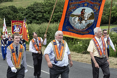 Orangemen marching (Frank Fullard) Tags: frankfullard fullard candid street portrait orangemen parade orangeorder marching banner kingwilliam kingbilly leireim cully cavan longford donegal ireland northernireland blue trueblues history historic