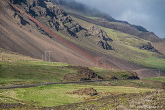 Electricity (Desireevo) Tags: iceland ic ijsland ijs island islands landscape landschaft landscapes mountain mountains nature outdoors desireevanoeffelt holiday summer green clouds cloud sky skies rock rocks