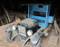 'Veteran' (Mary Faith.) Tags: truck blue veteran vintage old vehicle chevrolet chev shed wreck transport 12 chevy flatdeck historic general motors
