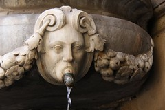 Vomit (David K. Edwards) Tags: fountain face design downtown palermo sicily italy