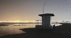 11:00pm after high tide. (carpathiar) Tags: iphone iphonex lowlightphotography hightide lifeguardstation longbeach beach longbeachcalifornia