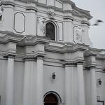 Uccelli in volo sopra la cattedrale
