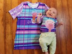 Matching shirts (quinn.anya) Tags: shirts matching onesie feminist feministasfuck piccadillytextileco eliza baby