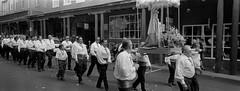 Novena de La Conquistadora (sdscott) Tags: film xpan santafe newmexico parade blackandwhite blackwhite panoramic panorama