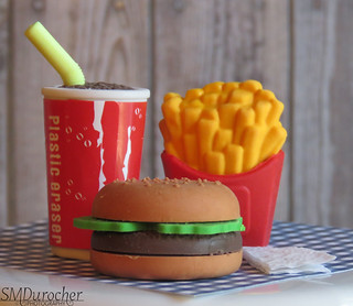 180716 Erasers Burger&Fries c
