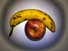 Apples and Bananas (byzantiumbooks) Tags: apple banana werehere hereios