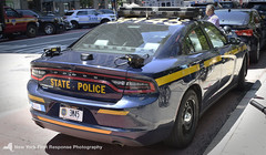 A New York State Police Dodge Charger (nyfrp) Tags: new york state nys city nyc manhattan downtown midtown flatiron district building nypd fdny mount sinai nysp police car vehicle policecar pd communincations truck ambulance charger fpis ford chevy explorer taurus esu emergency services