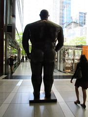 Tall Gent Man Sculpture by Botero 2018 NYC 3781 (Brechtbug) Tags: man sculpture by fernando botero colombian artist metal bronze nude male art sculptures front glassed lobby time warner building columbus circle nyc thinker thinking wings nudes architecture statues statue gargoyle gargoyles new york city broadway store shopping center mall heavy zaftig puffy hefty big boned sturdy tall gent 2018