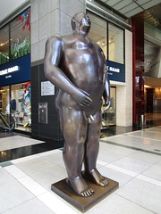 Tall Gent Man Sculpture by Botero 2018 NYC 3769 (Brechtbug) Tags: man sculpture by fernando botero colombian artist metal bronze nude male art sculptures front glassed lobby time warner building columbus circle nyc thinker thinking wings nudes architecture statues statue gargoyle gargoyles new york city broadway store shopping center mall heavy zaftig puffy hefty big boned sturdy tall gent gentleman