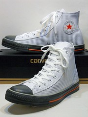 Dots Leather - White & Grey Hi 114834 (hadley78) Tags: converse cons chucks collection ct chucktaylors chuck taylor taylors tops top thatconverseguy guinness worldrecord world record ripleys joshuamueller joshua mueller dots leather