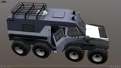 Amphibian truck Shaman (paperscan) Tags: shaman шаман truck amphibian car 3d model