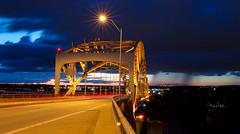 Time for Letting Go (KC Mike Day) Tags: bridge broadwaybridge expsoure long storms rain clouds buckoneil missouri river canon weather stormy 1635 rail