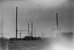 Belfast Docks 24062018 - 008 (irishlad031_vintage) Tags: belfast browniecamera blackwhite boxbrownie ulster ulsterisirish irishlad031vintage irishlad031 irish ireland film vintagephotography cityscape coantrim docks titanicquarter