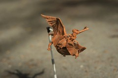 The Owl Rider by Eric Vigier (Nikita Vasiliev) Tags: origami origamiart paper paperart human rider owl flight owlrider ericvigier summer