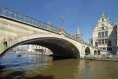 Sint-Michielsbrug (albireo 2006) Tags: belgium sintmichielsbrug bridge ghent gent stmichaelsbridge