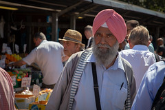 Face in the crowd (paul indigo) Tags: paulindigo authentic man market people portrait streetphotography turban