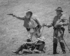 Confederate Reinactment (Kevin MG) Tags: sanpedro fortmacarthur costume period civil war reinactment warreinactment gun canon battle union confederate rifle pistol