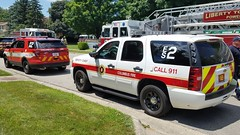Battalion 2 and ES2 (Central Ohio Emergency Response) Tags: columbus ohio fire division department truck battalion chief ford suv chevy tahoe deputy