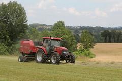Case iH MXU 125 +  Case ih  RB 454 (Philippe-03) Tags: caseih case ih international tracteur tractors agriculture campagne foin fenaison