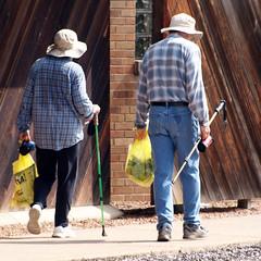 Plaid Pair (DewCon) Tags: walking walkers pedestrians
