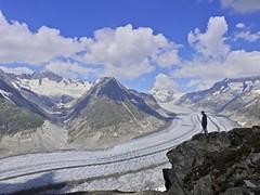 Glaciar Aletsch (Mono Andes) Tags: tente suiza schweiz alpes alps glaciar worldheritage patrimoniodelahumanidad jungfrau switzerland europe mönch valais