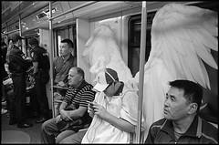 (Igor Baranchuk) Tags: leica leicam6 rangefinder ilford ilfordpan ilfordpan400 analog film 35 mm moscow subway angel метро москва подземка ангел крылья пассажир people passenger wings