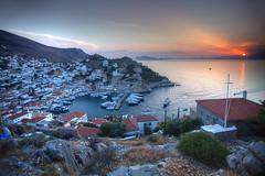 Hydra Sunset (hapulcu) Tags: aegean grece grecia greece griechenland hydra idra mediterranean saronic yunanistan island primavera printemps spring ύδρα ελλάδα ελλάσ