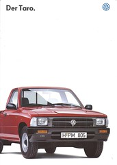 1996 VW Taro (Hugo-90) Tags: vw volkswagen commercial truck pickup ads advertising brochure car auto automobile toyota hilux taro