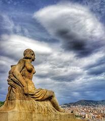 The observer...👀 (carlesbaeza) Tags: mnac barcelona catalonia travel city monument landscape cloud sky
