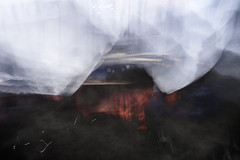 Memories (peterggordon) Tags: icm intentionalcameramovement blur photoshop blend abstract mountain fire painterly multipleexposure