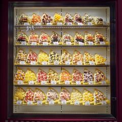 Crepe selection (AMcUK) Tags: taitōku tōkyōto japan jp em10 omdem10 omdem10mkii em10mkii omd olympus olympusuk m43 micro43rds micro43 microfourthirds nippon tokyo crepe fastfood streetfood