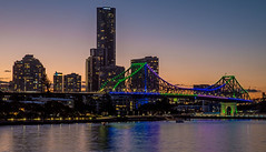 Dusk Story (OzzRod) Tags: pentax k1 hdpentaxdfa2470mmf28 dusk evening city storybridge brisbane river reflections dailyinjuly2018 queensland australia