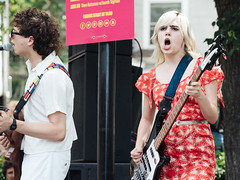 Sunflower Bean (verlacosa) Tags: livemusic sunflowerbean olympus vscofilm color michigan event libertyplaza performer concert 75mm portrait music penf soniclunch annarbor