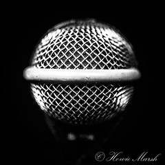 Day 193: D112 (Howie1967) Tags: mic grill mono monochrome audio bass drum
