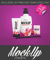 3 Free Cosmetic Mock-ups in PSD (Mockupfree.co) Tags: mockup free product mockups cosmetic style beauty comb soap cream shampoo bottle tube