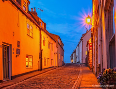 Cobbled street at night. (jack cousin) Tags: england northsea uk whitby yorkshire chimney cloud coast cobbledstreet cobbles door flowers harbor harbour holiday lamp light lights night nightsky nighttime outdoor popular port resort seascape seashore shore sky street tourism touristattraction town travel vacation window windows nikond610 on1photos