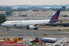 OO-SFX | Airbus A330-343 | Brussels Airlines (w/Tomorrowland logo) (cv880m) Tags: newyork jfk kjfk kennedy aviation airliner airline aircraft airplane jetliner oosfx airbus a330 333 330300 330343 brussels brusselsairlines belgium tomorrowland logo special