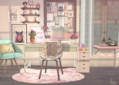 Happy Kitty, Sleepy Kitty, Purr, Purr, Purr (Allie (Lilly Sunflower)) Tags: theepiphany epiphany ariskea backbone atomic amd applemaydesigns beedesigns dustbunny omen halfdeer hive goose cosmopolitan lagom equal10 mishmish randommatter secondlife sl allie decor homeandgarden kitty cute cat desk deskdecor