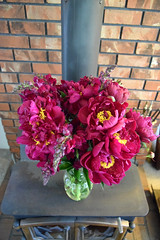 Peonies and Snapdragons 0061 (Donna's View) Tags: nikon d3300 peonies snapdragons flowers bouquet antirrhinum paeonia