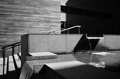 Cascade (Tarantoga) Tags: water ricohgr architecture patterns monochrome cascade structures flow shadows stone wood