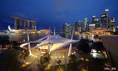 Cityscape of Esplanade Outdoor Threatre (Ken Goh thanks for 2 Million views) Tags: esplanade outdoor threatre mbs singapore skyline cbd night photography landscape pentaxk k1 laowa 12mm f28 uwa