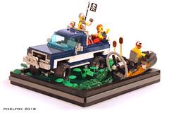 Chevrolet C/K 3rd Gen (Pixel Fox) Tags: chev chevy chevrolet ck lego 4x4 offroad diorama vignette