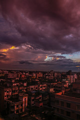 Darkness within Colours (saifsrhythm) Tags: storm landscape dhaka bangladesh clouds colours colourful sky sunset lanscape cityscape