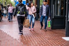 San Francisco 2018 (burnt dirt) Tags: sanfrancisco california vacation town city street road sidewalk crossing streetcar cablecar tree building store restaurant people person girl woman man couple group lovers friends family holdinghands candid documentary streetphotography turnaround portrait fujifilm xt1 color laugh smile young old asian latina white european europe korean chinese thai dress skirt denim shorts boots heels leather tights leggings yogapants shorthair longhair cellphone glasses sunglasses blonde brunette redhead tattoo pretty beautiful selfie fashion japanese shopping bag pink purple