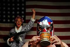I'll start the revolution when I finish my coffee (Studio d'Xavier) Tags: werehere i'llstarttherevolutionwhenifinishmycoffee luchador luchalibre revolution coffee america 185482