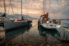 Marina calm..... (Dafydd Penguin) Tags: marina calm dusk evevning light yacht yachts yachting sailboat sail boat sailing mooring quay harbour harbor port dock sea water harbourside quayside mediterranean gaeta italy leica m10 elmarit 21mm f28