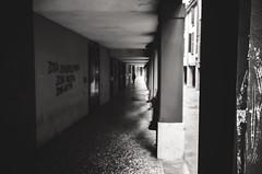 Zona Universitaria, Zona Nostra, Zona Antifa (damar47) Tags: bologna street streetphotography citycenter pentax pentaxart pentaxian 21mm wideopen people streetstyle k30 streetlife urban blackandwhite blackwhite bnw biancoenero monotone monoart monochrome emiliaromagna italy italia portici porch arcs arcade under blur blurry zonauniversitaria lightroom adobelightroom lr5 ricohpentax