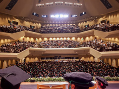 View from the stage at graduation (Andy Sut) Tags: graduation royalconcerthall nottingham academia audience graduates stage viewfromstage lumix andysutton