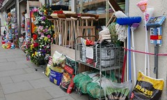 hardware (Mr Ian Lamb 2) Tags: brushes brooms mops flowers wood compost amble northumberland